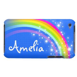 Hoesje van de kinder regenboog het blauwe ipod van