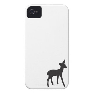 Hoesje van het silhouetiPhone van herten fawn het
