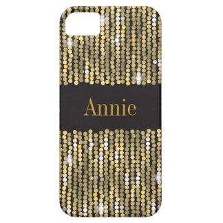 Hoesje van iPhone SE/5/5S van lovertjes het Gouden