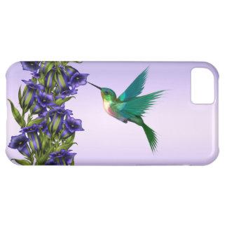 Hoesje van iPhone van de Kolibrie van paarse Viool