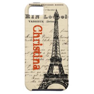 Hoesje van iPhone van de Toren van Eiffel het Vint
