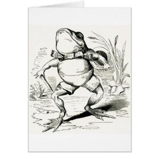 Hoffelijke Kikker vintage Strutting, Briefkaarten 0