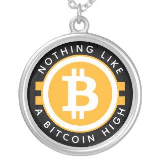 Hoge Bitcoin Zilver Vergulden Ketting