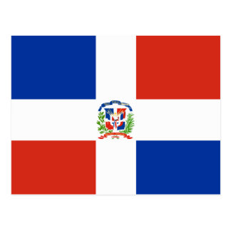 Hoge Dominicaanse Republiek - kwaliteitsVlag Briefkaart
