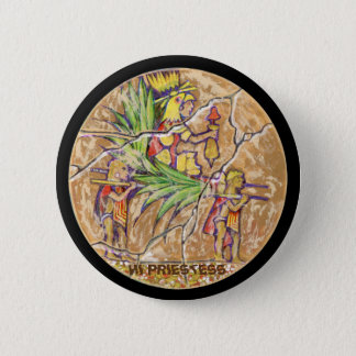 Hoge priestess kleur - de Verbazende Knoop van Ronde Button 5,7 Cm