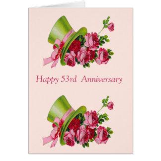 Hoge zijden en bloemen, Gelukkig 53ste Jubileum Kaart