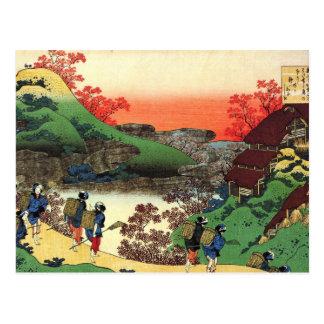 Hokusai - Japanse Kunst - Uitzicht van het Briefkaart