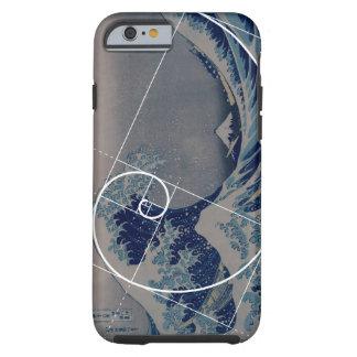 Hokusai ontmoet Fibonacci, Gouden Verhouding Tough iPhone 6 Hoesje