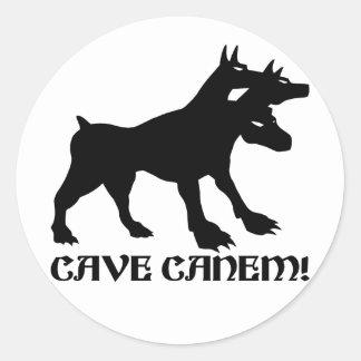 HOL CANEM - VOORZICHTIG ZIJN VAN de Latijn van de Ronde Sticker