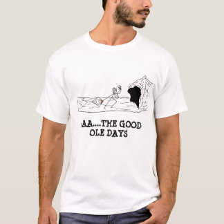 holbewoner de goede oledagen, Amerikaanse club van T Shirt