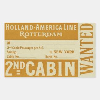 Holland Amerika Line Rotterdam Rechthoek Sticker