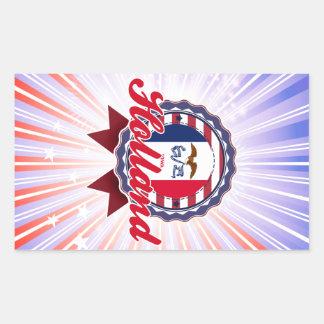 Holland, IA Rechthoek Stickers