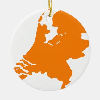Holland Rond Keramisch Ornament