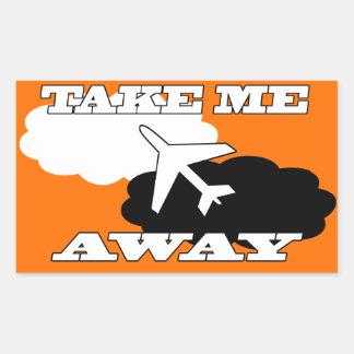 Hollidays   Vlieg weg Rechthoekige Sticker