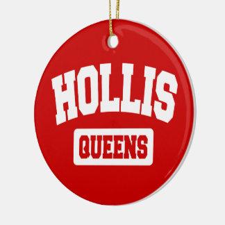 Hollis, Queens, NYC Rond Keramisch Ornament