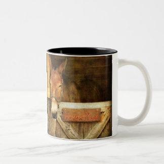 Homerus de Muilezel Tweekleurige Koffiemok
