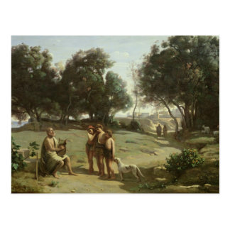 Homerus en Herders in een Landschap, 1845 Briefkaart