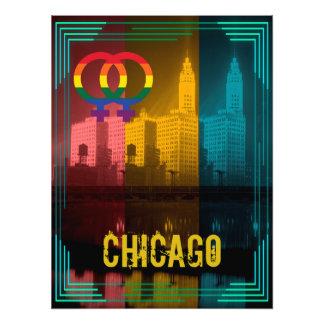 Homosexueel van de Trots van de Rente van Chicago Foto Afdrukken