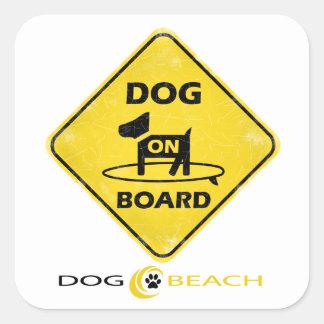 Hond aan boord vierkante sticker