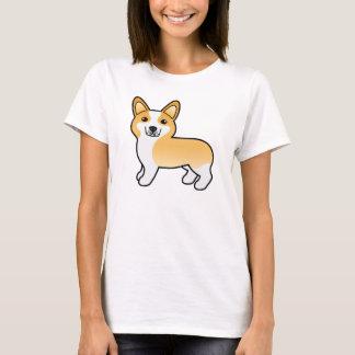 Hond Corgi van Pembroke van de Cartoon van Fawn de T Shirt