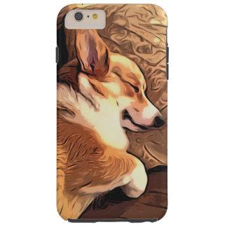 Hond Corgi van Pembroke van de slaap de Welse Tough iPhone 6 Plus Hoesje