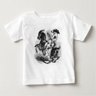 Hond die een Geit berijden Baby T Shirts