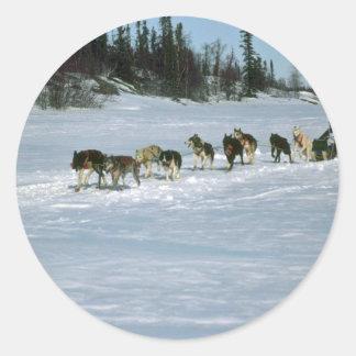 Hond die, Yukon rennen Ronde Sticker
