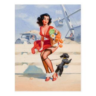 Hond Gebonden Speld op Art. Briefkaart