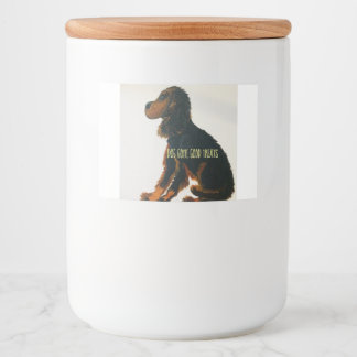 Hond gegaan goed voedselcontainer etiket