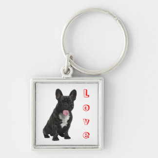 Hond Keychain van het Puppy van de Buldog van de Sleutelhanger