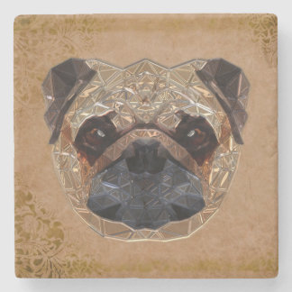 Hond Mozaic Stenen Onderzetter