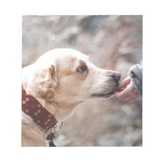 hond notitieblok
