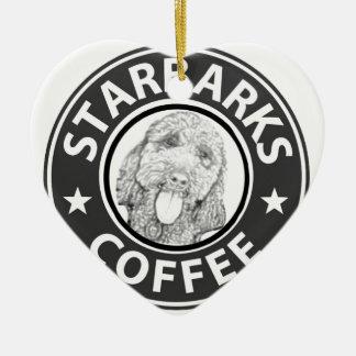hond Starbucks Keramisch Hart Ornament