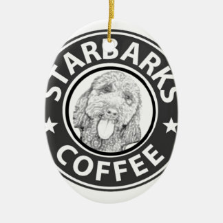 hond Starbucks Keramisch Ovaal Ornament