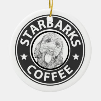 hond Starbucks Rond Keramisch Ornament
