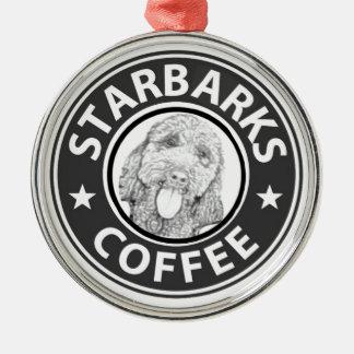 hond Starbucks Zilverkleurig Rond Ornament
