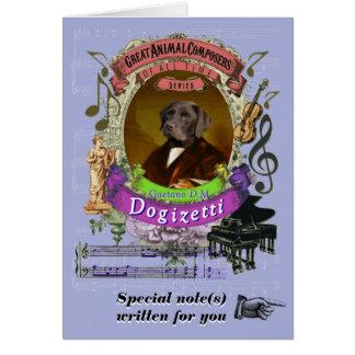 Hond van de Componist van Dogizetti van de Parodie Kaart