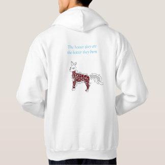 Hond van de Vlam van het mannen de Witte hoodie