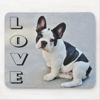 Hond van het Puppy van de Buldog van de liefde de Muismat