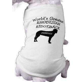 Hond van Rhodesian Ridgeback van de Werelden van T-shirt