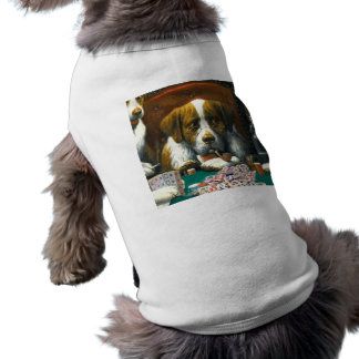 Honden die Mah Jongg Doggie T spelen T-shirt