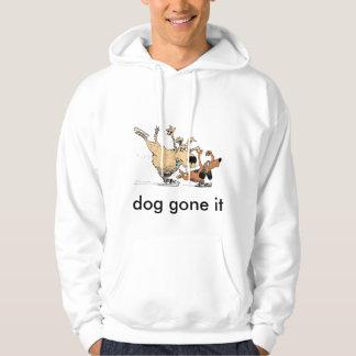 Honden die op het Afbeelding van het Ijs op Hoodie