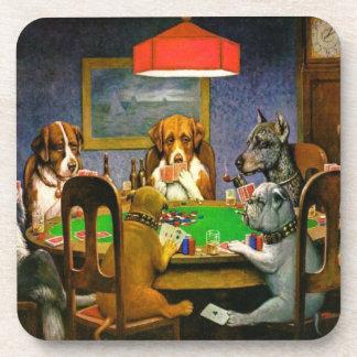Honden die Pook spelen Onderzetter