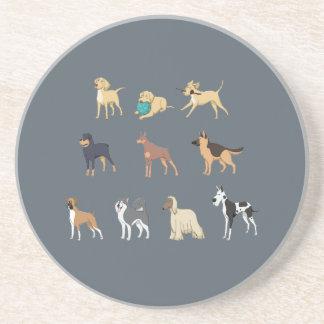 Honden Zandsteen Onderzetter