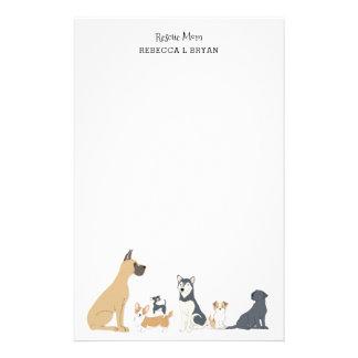 Hondenrassen II van de Papa van het Mamma van de Briefpapier