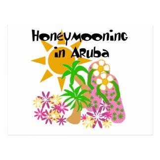 Honeymooning in Aruba Briefkaart