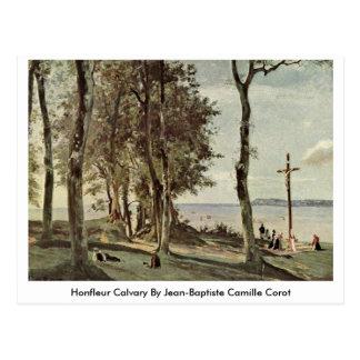 Honfleur Calvary door Jean-Baptiste Camille Corot Briefkaart