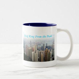 Hong Kong van de Piek Tweekleurige Koffiemok
