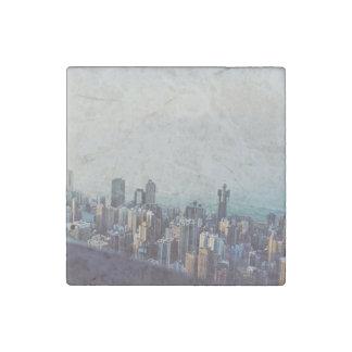 Hong Kong van hierboven Stenen Magneet