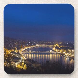 Hongarije Boedapest bij nachtpanorama Bier Onderzetters